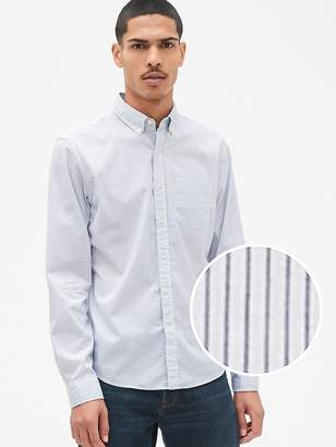 Gap Untucked Poplin Shirt with Stretch