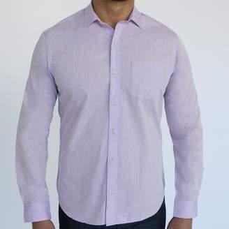 Blade + Blue Solid Lavender Melange Shirt - Lenny