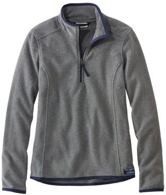 L.L. Bean L.L.Bean Women's Soft-Brushed Fitness Fleece Pullover, Quarter-Zip