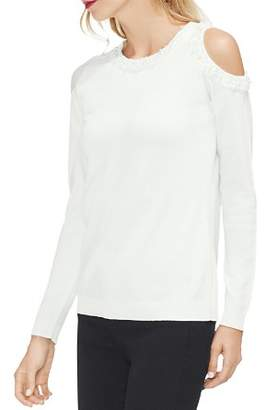 Vince Camuto Embellished-Collar Sweater