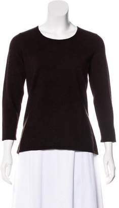 Oscar de la Renta Cashmere-Blend Knit Top