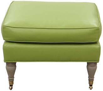 One Kings Lane Vintage French Style Apple Faux Leather Stool - Mission Avenue Studio