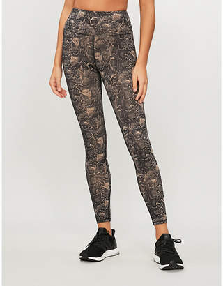 057e48e6ad3256 Good American High-rise snake-print stretch-jersey leggings