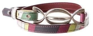 Emilio Pucci Printed Skinny Belt