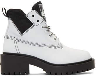 Kenzo White Suede Sierra Boots