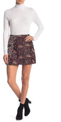 Free People Mini Mixed Knit Jacquard Skirt