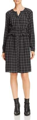 Rebecca Taylor Ruffled Plaid Silk Dress