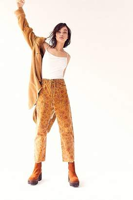 Free People City Slouch Printed Cord Pants