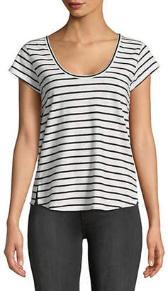 Theory Striped Cotton Tee