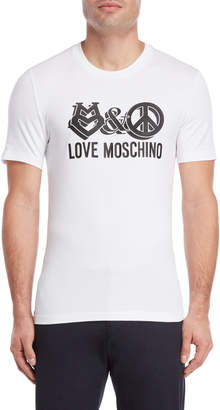 Love Moschino Love & Peach Logo Tee