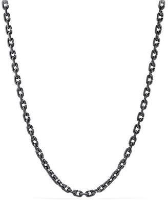 "David Yurman Chain Link Narrow Necklace with Black Titanium, 26"""
