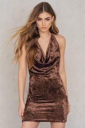 Reverse At My Best Velvet Dress Brown