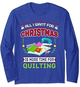 Shirt For Quilting Lover. Xmas Long Sleeve Tee For Grandma.