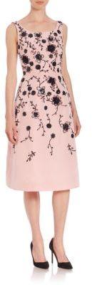 Oscar de la Renta Sequin Floral Degrade Embellished Silk Faille Dress $6,490 thestylecure.com