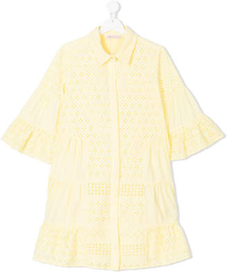 Miss Blumarine TEEN broderie anglaise dress