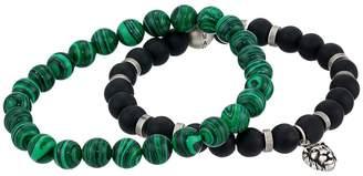 Steve Madden Beaded Bracelet Set with Lion Head Charm Bracelet