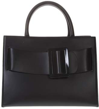 Boyy Bobby Black Leather Tote Bag