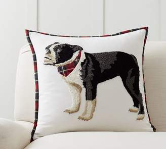 Pottery Barn Christmas Bulldog Pillow Cover