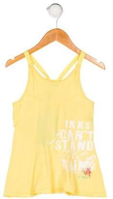 Ikks Girls' Sleeveless Printed Top