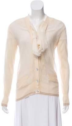 Sacai Silk-Blend Knit Cardigan