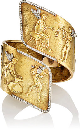 """Mahnaz Collection Vintage Women's """"Venus and Cupid in Vulcan's Forge"""" Cuff"""