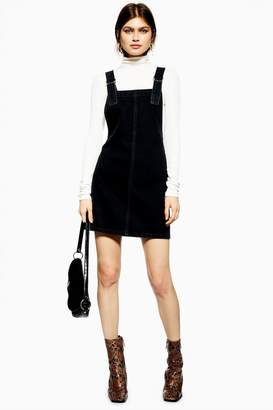 Topshop Denim Pinafore Dress with D-Ring Straps