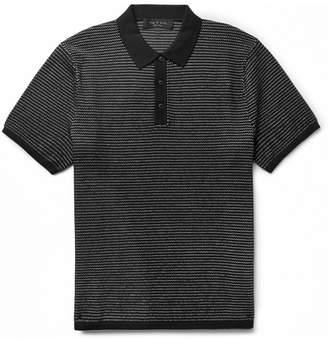 Rag & Bone Finn Cotton And Nylon-Blend Polo Shirt