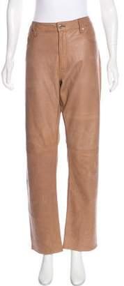Ralph Lauren Leather Straight-Leg Pants