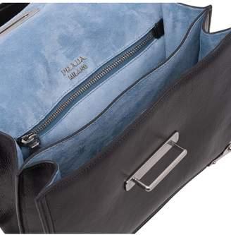 Prada Cahier Printed Leather Handbag