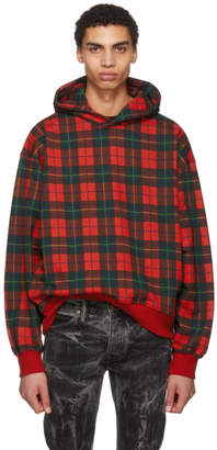 Fear Of God Red Plaid Everyday Hoodie