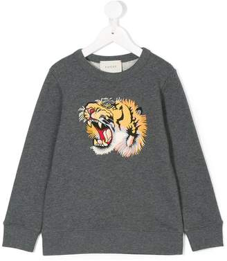 Gucci Kids tiger-appliqué sweatshirt
