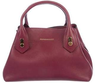 Burberry Grained Leather Satchel