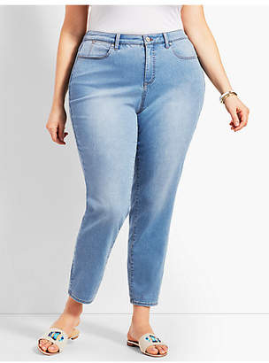 Talbots Womans Exclusive Denim Slim Ankle Jean - Curvy Fit/Beach Glass