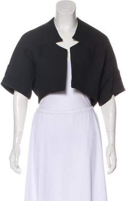 Zero Maria Cornejo Virgin Wool Blend Short Sleeve Jacket