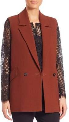 SET Posh Crepe Double-Breasted Vest
