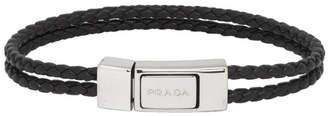Prada Black Nappa Braided Bracelet