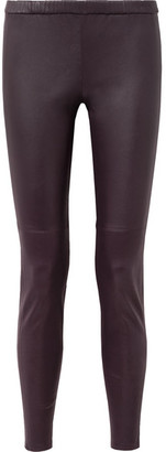 MICHAEL Michael Kors Leather Leggings - Purple