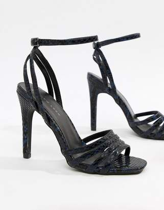 New Look Snake Effect Heeled Sandal