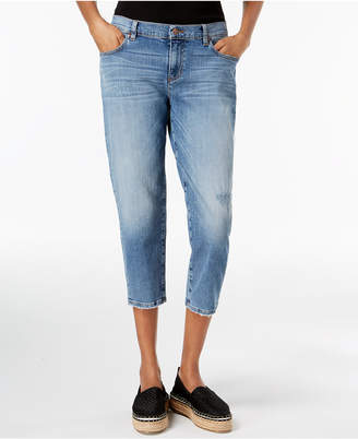 Eileen Fisher Cropped Tapered-Leg Jeans