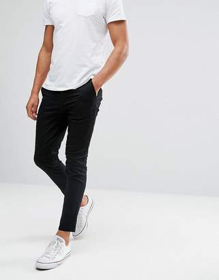 16aea0b34a3f5b Asos Design DESIGN super skinny cropped chinos in black