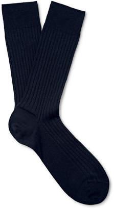 Marcoliani Ribbed Merino Wool-Blend Socks $30 thestylecure.com