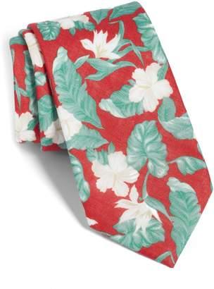 The Tie Bar Floral Linen Tie