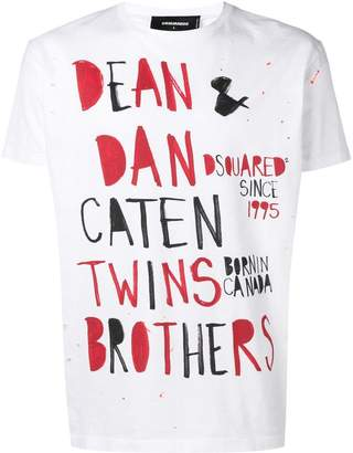 DSQUARED2 Caten Twins print T-shirt