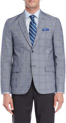 Ben Sherman Navy Glen Plaid Suit Jacket