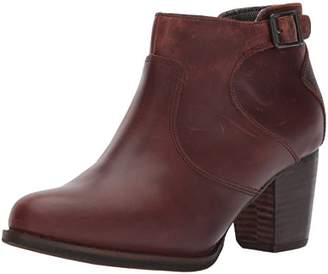 Caterpillar Women's Trestle WP Leather Ankle Bootie with Side Zip abd Stacked Heel Boot
