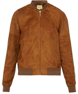 De Bonne Facture - Suede Bomber Jacket - Mens - Brown