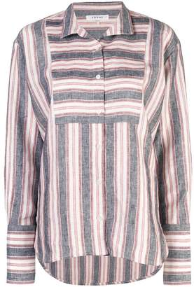 Frame striped long-sleeve shirt