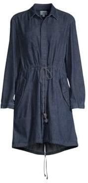 AG Jeans Pause Parka Denim High-Low Dress