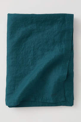 H&M Washed Linen Tablecloth - Turquoise