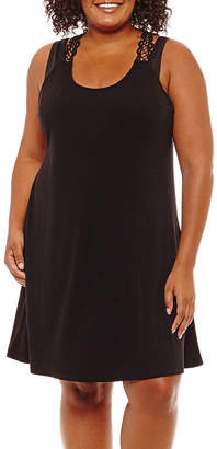 Porto Cruz Jersey Swimsuit Cover-Up Dress-Plus